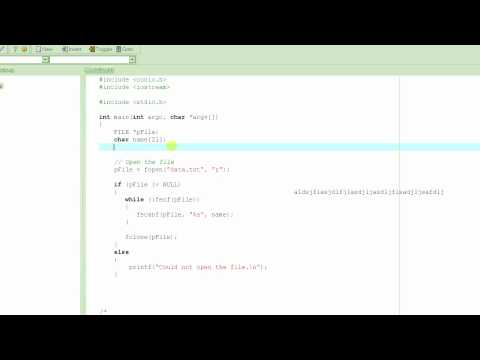 C Programming Tutorial # 42 - fgets() - Reading Strings From A File - Part 1 [HD]