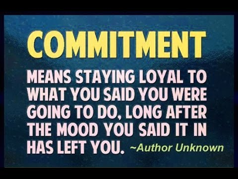 Why & Commitment