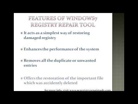 Fix window 7 registry error