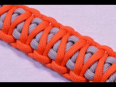 King Cobra Survival Paracord Bracelet with Buckle - How to - Dual Color