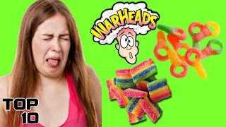 Top 10 Most Sour Candies Of All Time