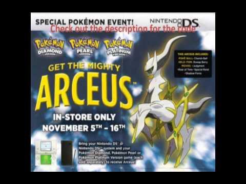 Action Replay Code: TRU Arceus - Pt/HG/SS