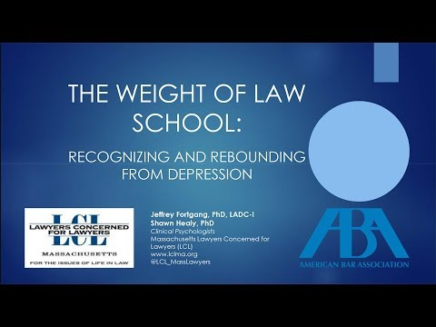The Weight of Law School: Recognizing and Rebounding from Depression