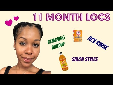 Remove Buildup/ACV Rinse on Locs + 11 Month Update | @SpiritedxKulture