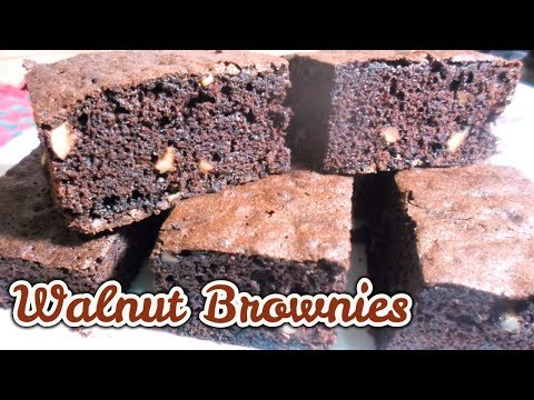 Easy Chocolate Walnut Brownies recipe |How to make chocolate walnut fudge brownie |