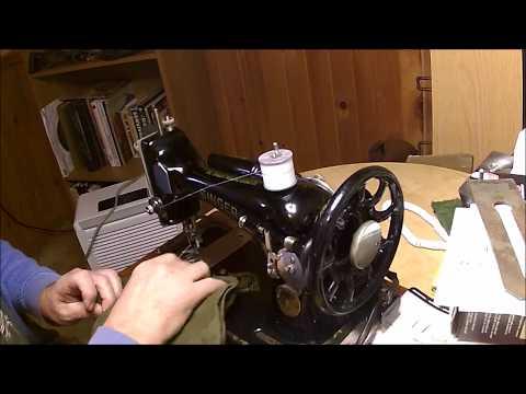 Sewing Repair to My Sleeping Bag Liner with a Vintage Singer