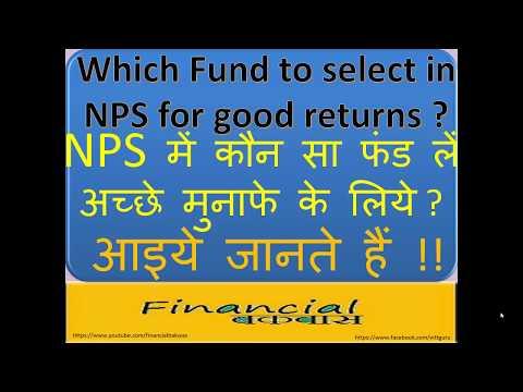 Which Fund to select in NPS for good returns NPS में कौन सा फंड लें अच्छे मुनाफे के लिये