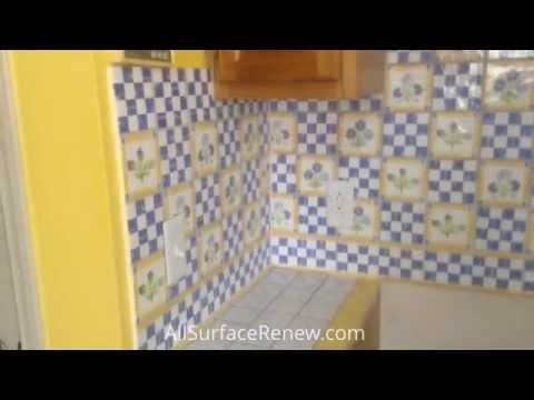 Ugly Kitchen Tile Countertops Recolored