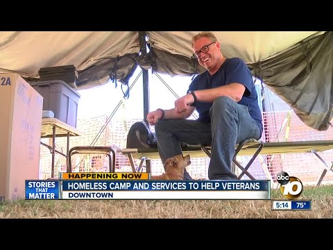 Homeless camp and services to help veterans