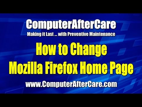 Change Firefox Home Page