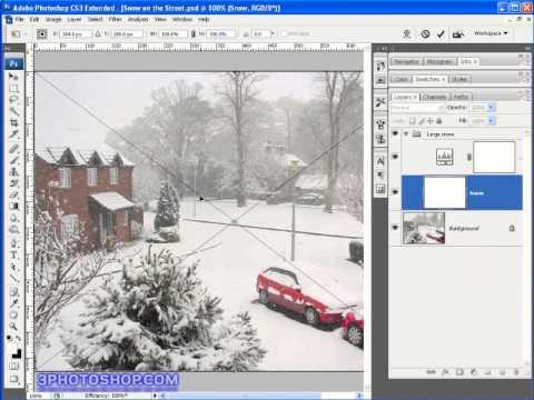 Making Snow in Photoshop CS3 (part 2)