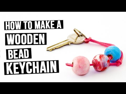 How to Make a Wooden Bead Keychain