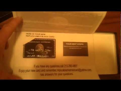 UNBOXING THE REPLICA BLACK AMEX...WOW...http://therealblack.webeden.co.uk/