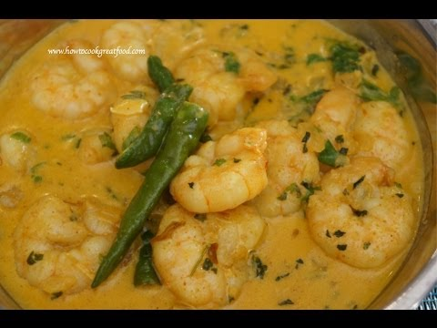 Indian Food - Prawn Coconut curry mild how to cook great masala