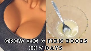 HOW TO GET BIGGER BOOBS IN 7 DAYS | BOOBS ENHANCEMENT CREAM