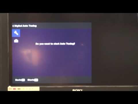 How to re-tune a Sony Bravia TV - Standard Menu