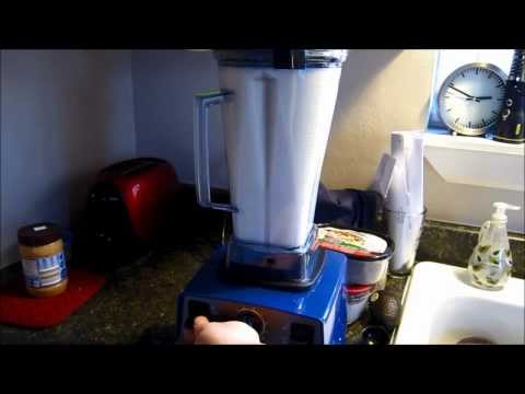 How to make soymilk with your blender or vitamix!  Easy DIY soy milk with Blendtec