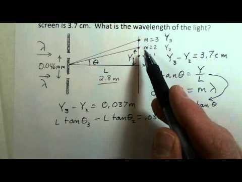 Double Slit Interference, Calculate Wavelength