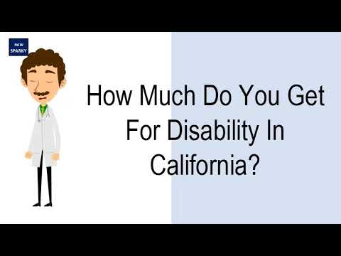 How Much Do You Get For Disability In California?