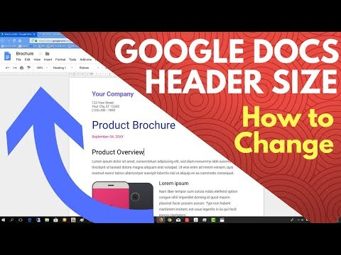 Google docs header size - How to change the height