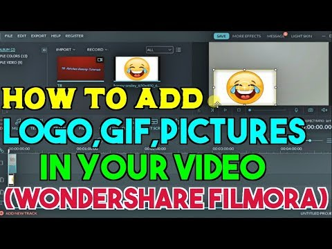 How To Add Logo,GIF,Pictures On My VIDEO (Wondershare Filmora)