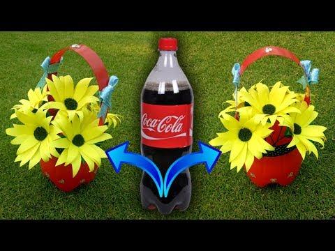 Best Out of Waste Plastic Bottle Flower/DIY Plastic Bottle Craft Idea