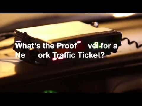 What's the Proof Level for a New York Traffic Ticket?