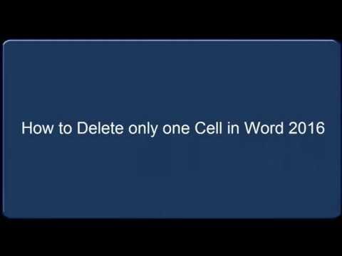 Delete Single Cell in Microsoft Word