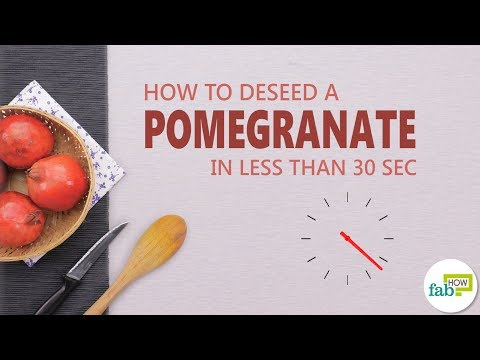 How to Deseed a Pomegranate in Less than 30 Seconds