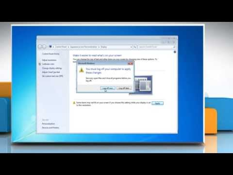 How to change the size of text and icons in Windows® 7 PC