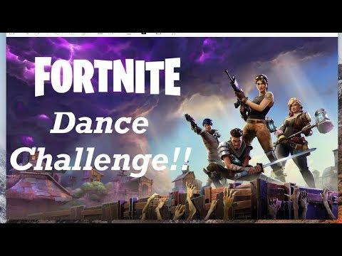 Fortnite Dance Challenge on a Trampoline!