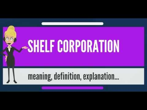 What is SHELF CORPORATION? What does SHELF CORPORATION mean? SHELF CORPORATION meaning