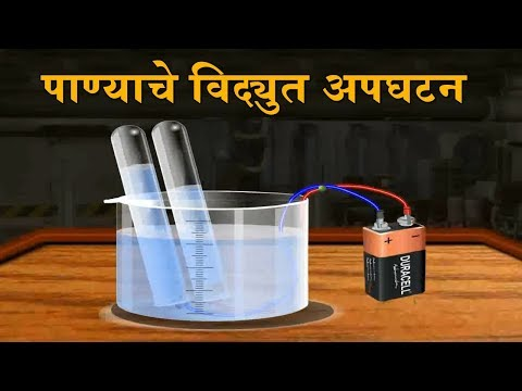 Electrolysis of Water | 9th Std | Science | Marathi Medium | Home Revise