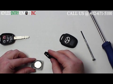 How To A Replace Toyota Camry Key Fob Battery 2012 - 2016