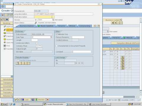 1 - Creation Of Info Areas,Info Objects, Catalog And Updating Master Data