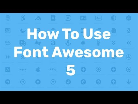 How to Download and Use Font Awesome 5 Icons Tutorial 2018 |  HTML,CSS Web Design offline & CDN