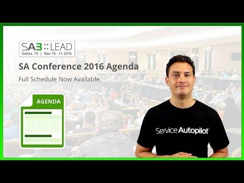 SA Conference 2016 Agenda
