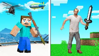 Playing GTA In MINECRAFT! (Mods)