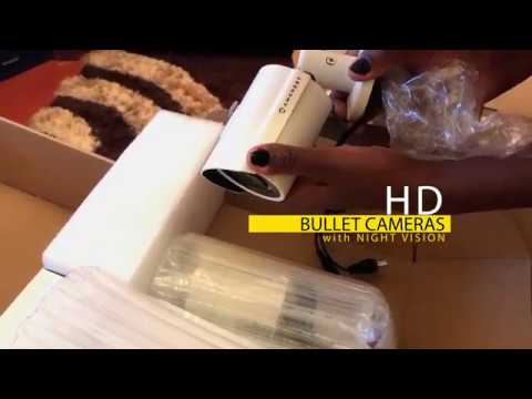 Unboxing Amcrest 2018 | cheap and effective HD surveillance system ideal outdoor & indoor