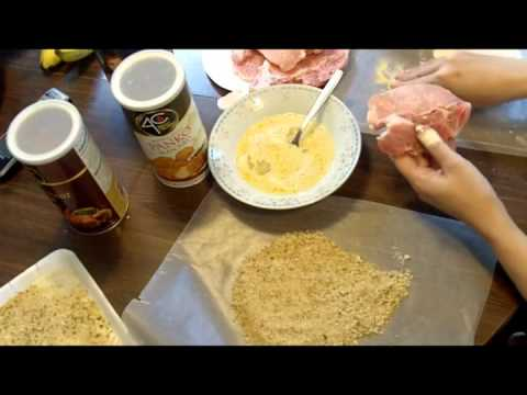 TUTORIAL - COOKING - PORK CHOPS recipe baked breaded smothered