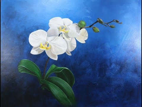 Art Lesson:  How to Paint Realistic Orchids in Acrylic