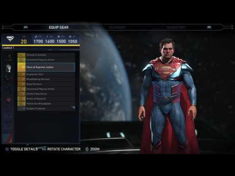 Injustice 2 - Superman Epic Gear Showcase/ Special Moves