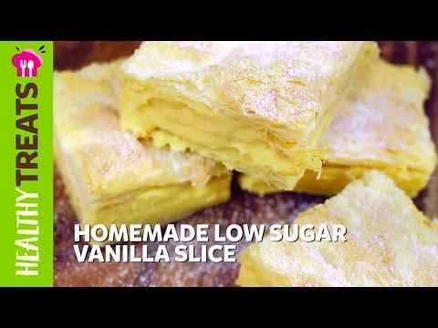 Homemade Low Sugar Vanilla Slice - Natvia's Healthy Treats & Dessert Recipes