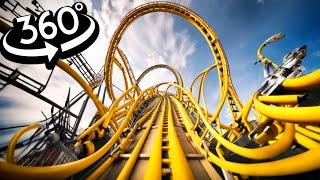 VR 360 Roller Coaster Ride 4K - Busch Gardens VR Simulation