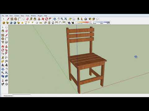 Tutorial sketchup membuat kursi sekolah (how to make a chair)