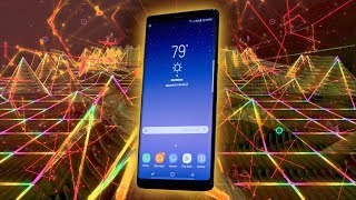 Trying the Galaxy Note 8