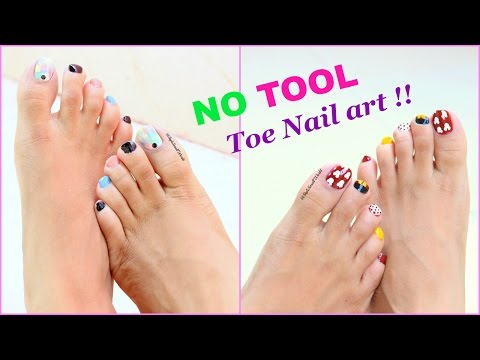 2 Easy and Quick Toe Nail Art designs tutorial
