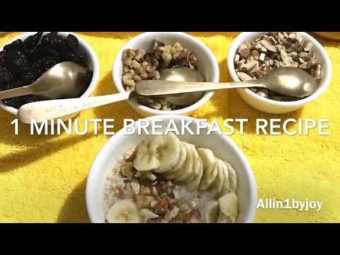 Banana-Nuts Oatmeal/1 Min. Healthy  Breakfast Recipe/Hot and tasty Oatmeal/ #Allin1byjoy/#boskip78