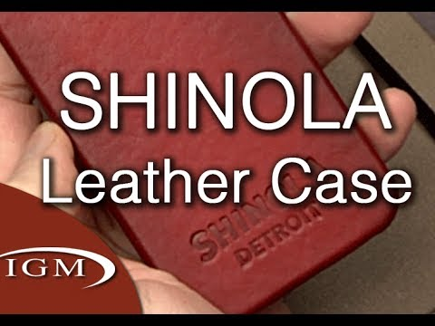 Shinola Premium Leather iPhone 5/5s case