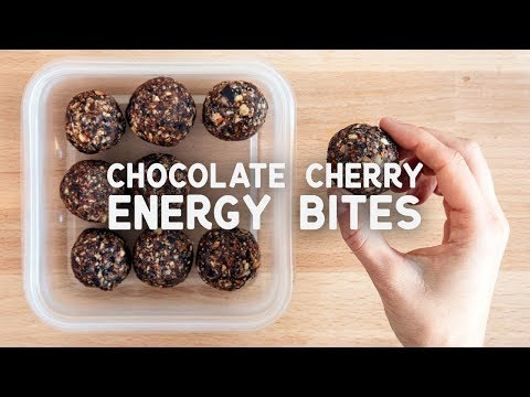 Chocolate Cherry Energy Bites